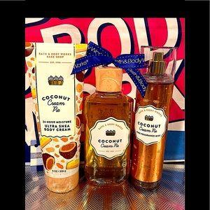 🌸NWT Bath & Body Works Coconut Cream Pie Body Set